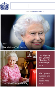 Click for Her Majesty's website