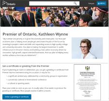 Click for Ontario Premier