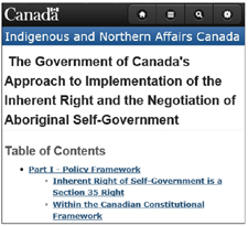 Click for INAC policy