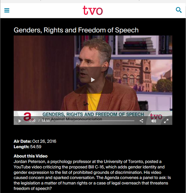 Click for TVO discussion, 55 minutes
